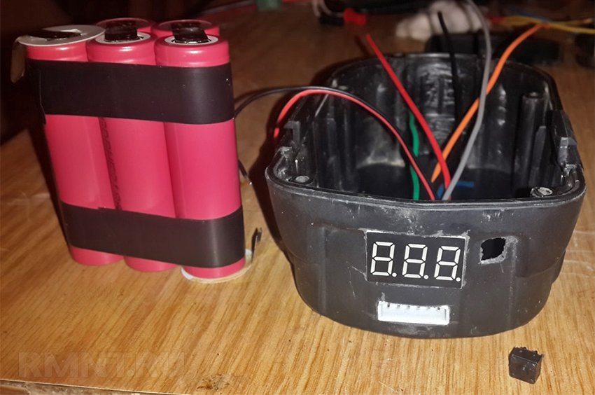 Переделка и ремонт аккумуляторов шуруповёрта для использования элементов 18650