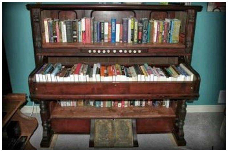 5. Книжный шкаф Фабрика идей, переделки, пианино и рояли, своими руками