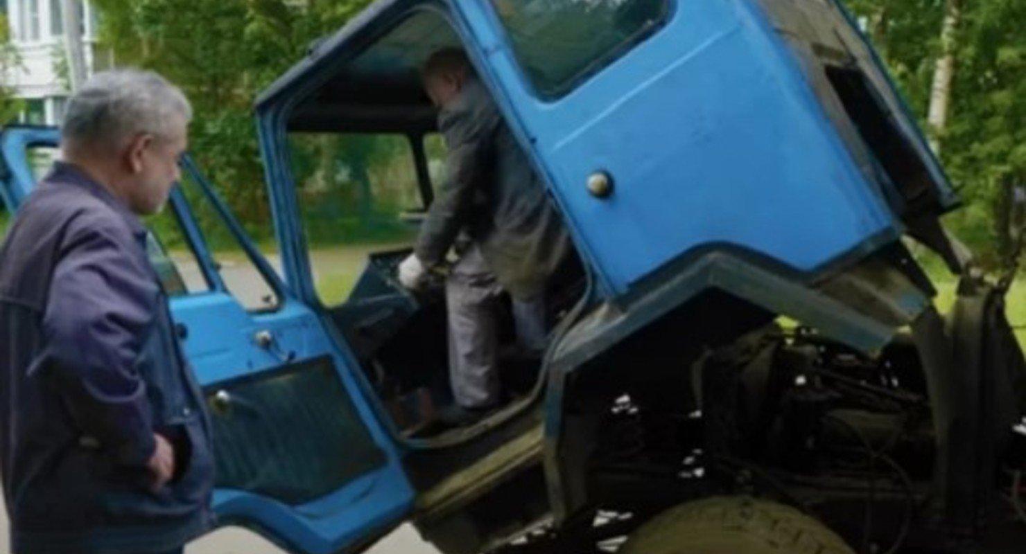 Колхида КАЗ-608: авто получило самоопрокидывающуюся кабину Автомобили