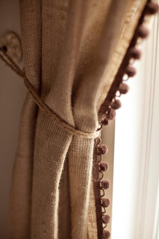 шторы из мешковины своими руками фото посвященные любимой