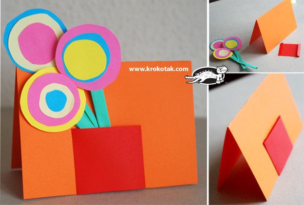 Как сделать открытку вместе с ребенком, делать детские открытки