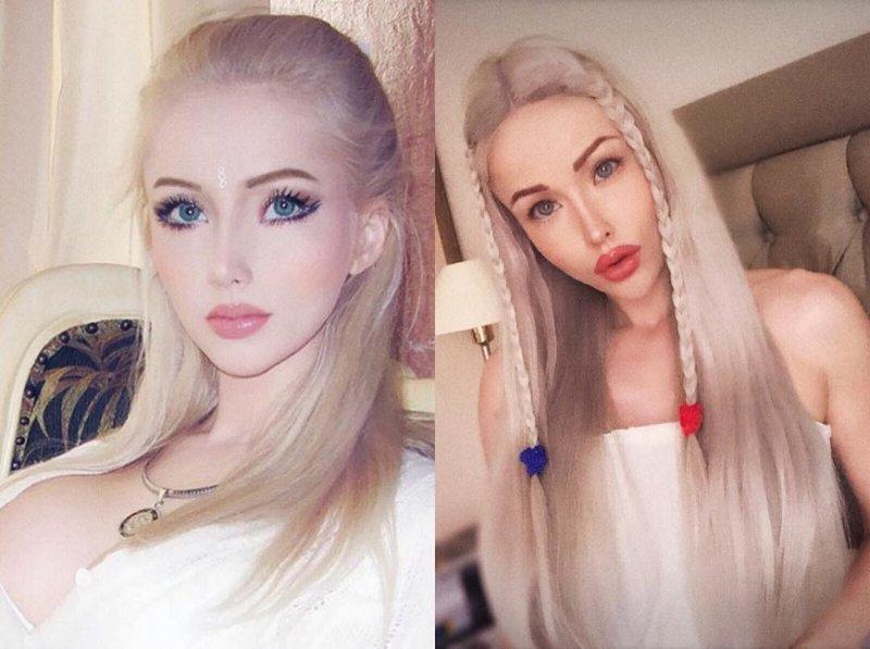 Сегодня девушка выглядит несколько иначе, но тоже явно не без новых пластических операций женщины-куклы, живые Барби, знаменитости. как живут, интересное, что делают