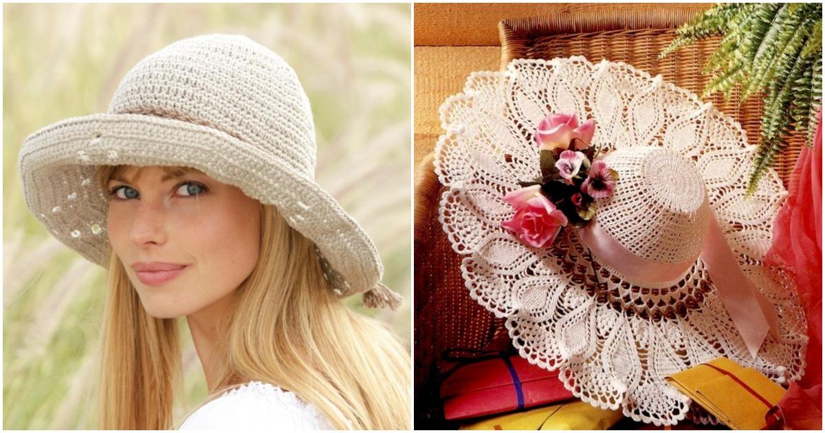 Примерьте этим летом очаровательную шляпку, связанную крючком
