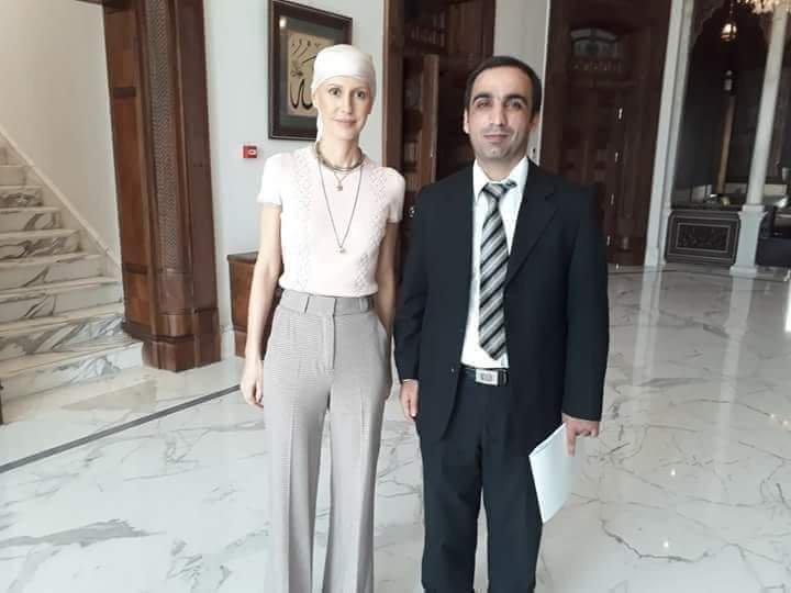 Асма Ассад после курса химиотерапии