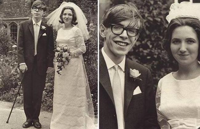 Стивен Хокинг и его жена Джейн Уайлд