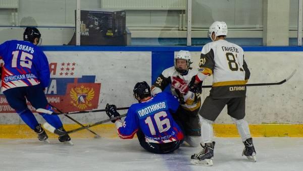 На домашнем льду хоккеисты Брянска переиграли «Золотых собак» два раза