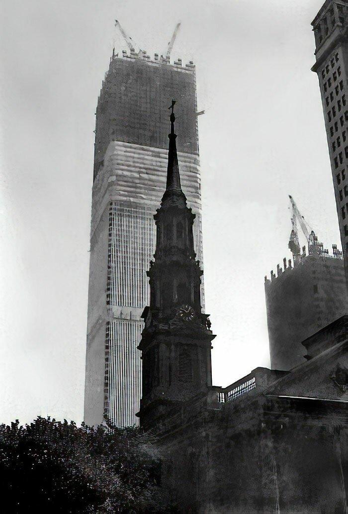 11. Всемирный торговый центр. Нью-Йорк, США архитектура, достопримечательности, интересно, исторические фото, исторические фотографии, познавательно, сооружения, строительство