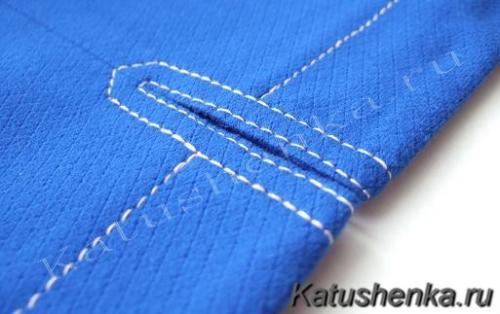Обработка некоторых узлов в одежде