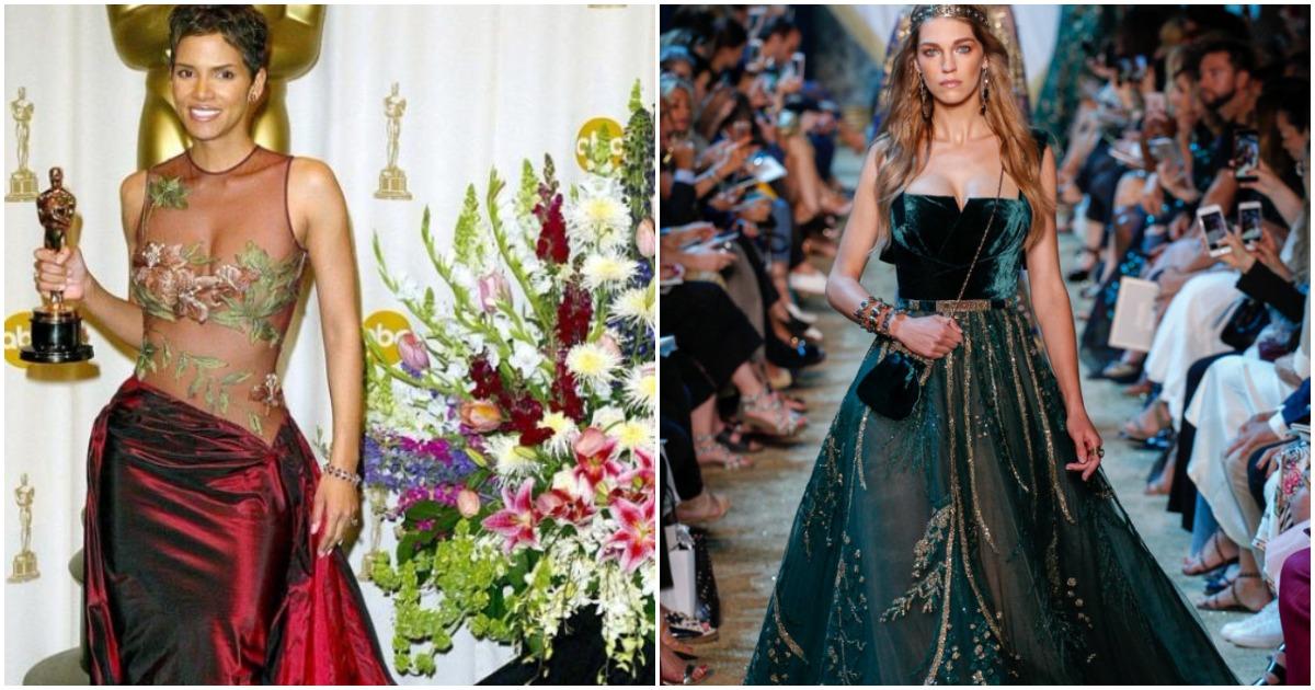 Новая коллекция изысканных платьев ливанского дизайнера Эли Сааб