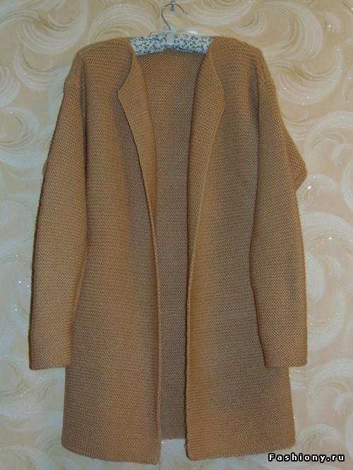 Потрясающий мастер класс от мастерицы - эту модную модель года можно назвать как угодно: пальто, кардиган, длинный жакет