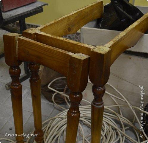 Винтажная переделка старого стола в стиле шебби-шик 2