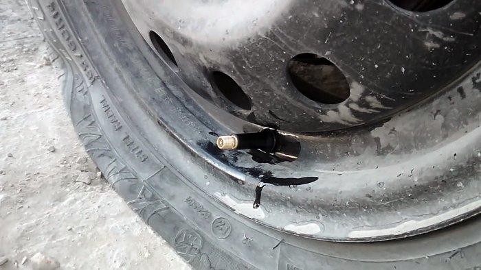 Замена вентиля за 20 секунд без снятия колеса полезные советы