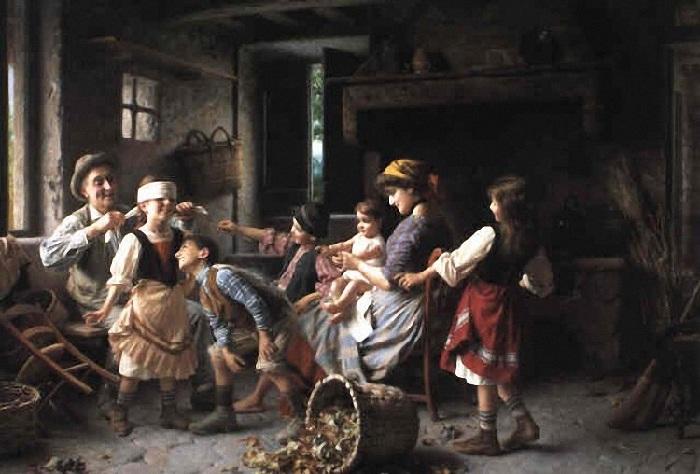Джованни Баттиста Торриглия ( итальянец, 1858-1937). Не подглядывай