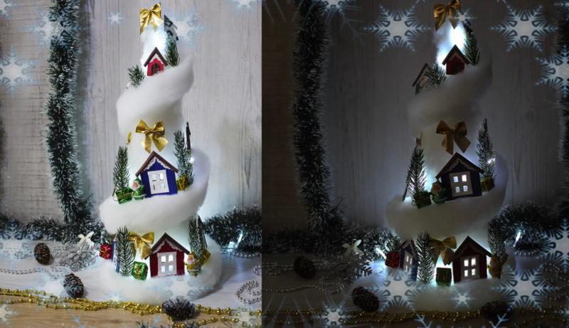 Чудесный новогодний фонарик из самых простых материалов интерьер,переделки,рукоделие,своими руками,сделай сам