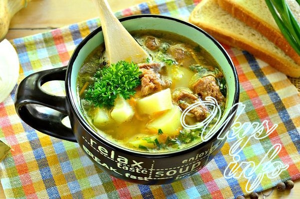 Суп из тушенки с картофелем
