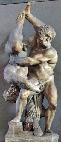 """Скульптура """"Геркулес и Диомед"""" во Флоренции"""