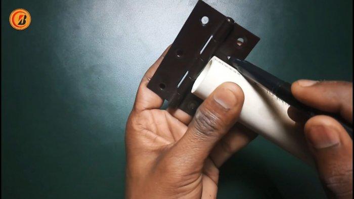 Как из ПВХ труб сделать складную сушилку для белья для дома и дачи,мастер-класс