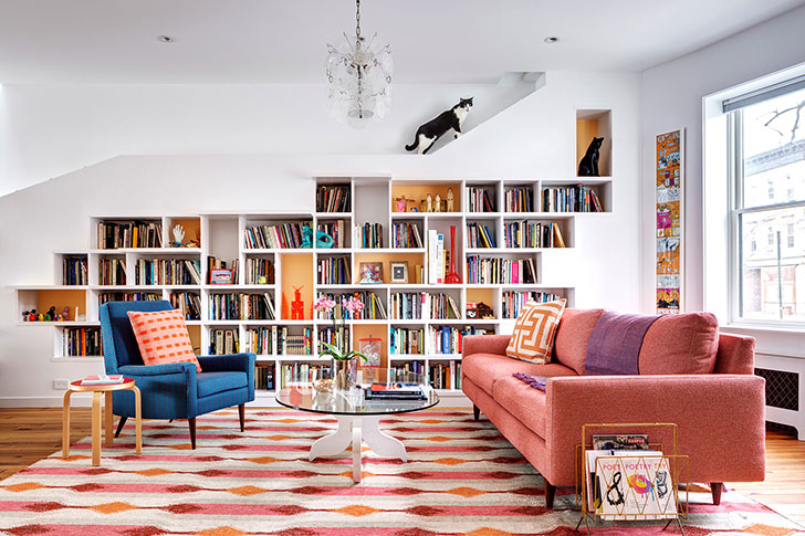 Дом для любителей книг и котов в Бруклине