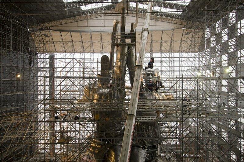 Масштабы поражают Рабочий и колхозница, внутри, интересно, монумент, статуя