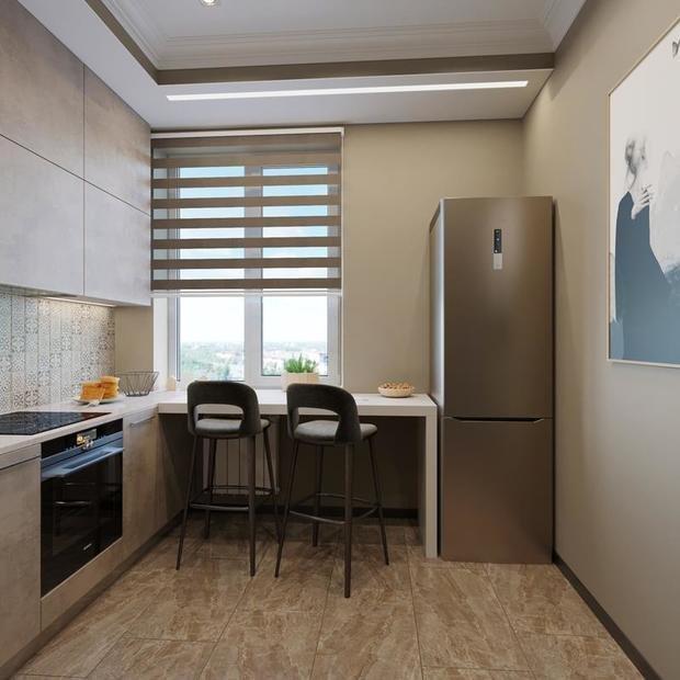Фотография: Кухня и столовая в стиле Минимализм, Советы, Перепланировка, Марина Лаптева – фото на InMyRoom.ru