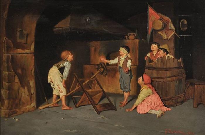 Джузеппе Константини (итальянец, 1843-1893) «Blindmans Buff». (1883 год).
