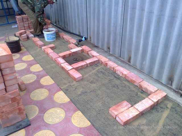 Вот так мы сложили мангал из кирпичей разное,строительство и ремонт