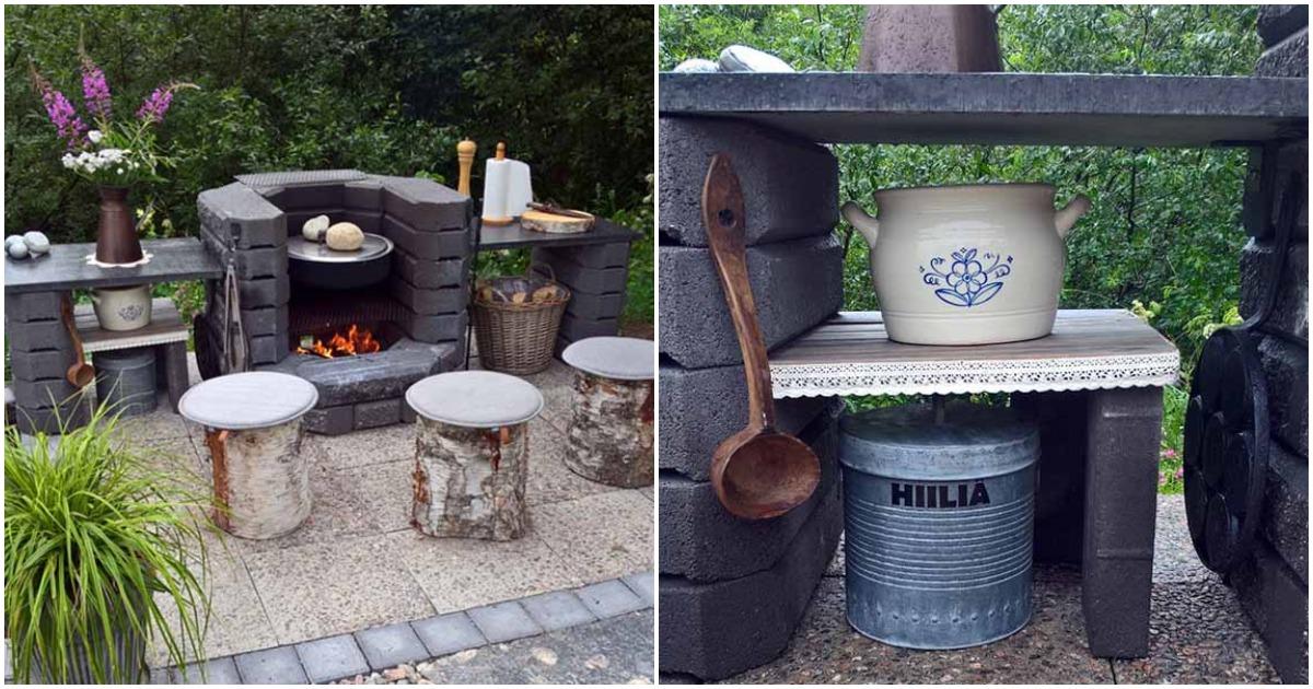Постройте на своем участке жаровню из кирпича, которая лучше любого мангала