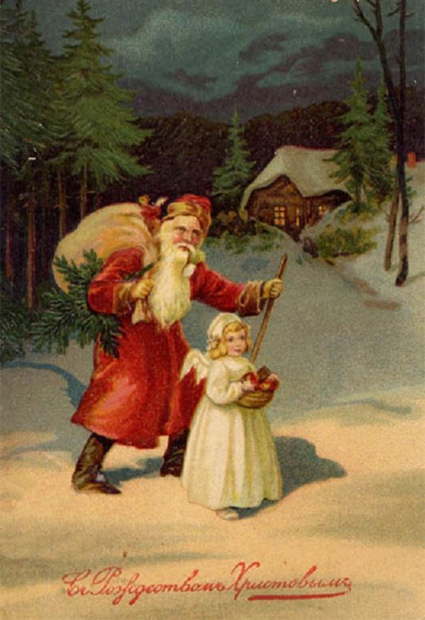 Дню, дореволюционные открытки новый год и рождество
