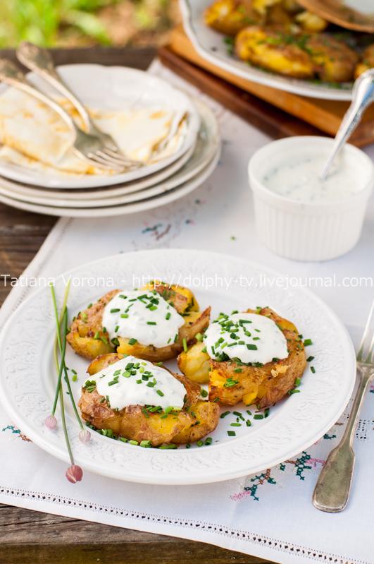 Картофель по-австралийски со сметанным соусом