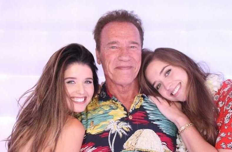 Арнольд Шварценеггер и его красавицы-дочки