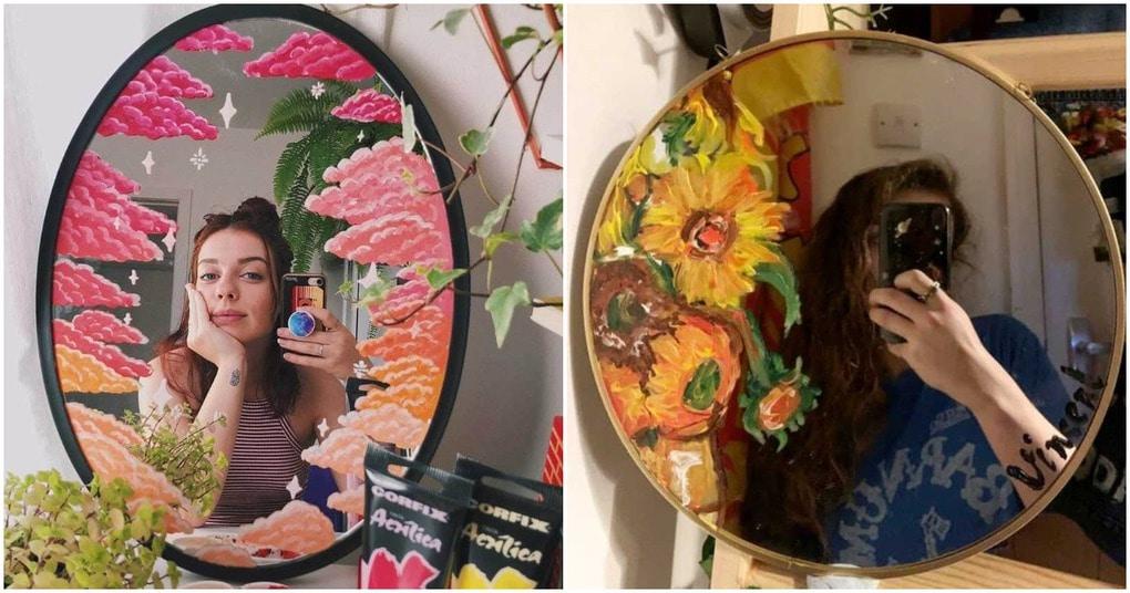 15 идей, как раскрасить зеркало и сделать самые креативные селфи вдохновляемся,декор