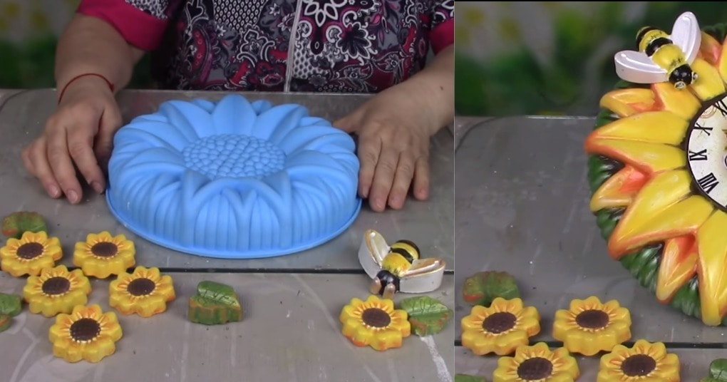 Часы с помощью формы для пирога? Почему бы и нет