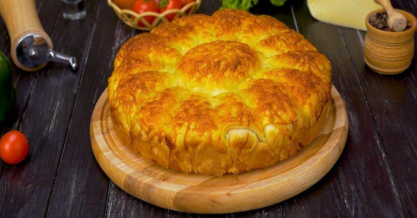 Мега вкусный дрожжевой пирог с фаршем