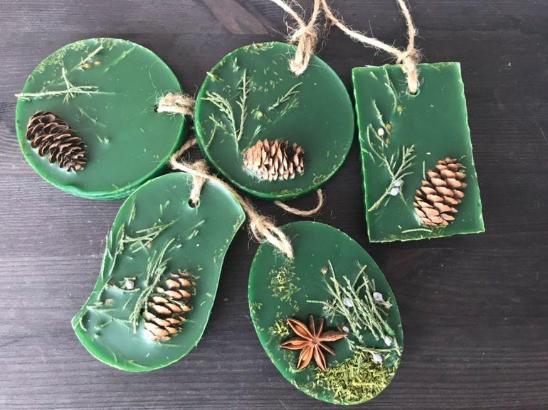 Создаем новогоднюю атмосферу: как сделать ароматные саше-елочки новогодний декор,поделки