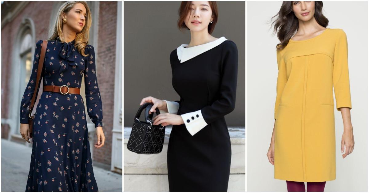 bb0fbe11aee Деловые платья осени  всегда стильно и элегантно