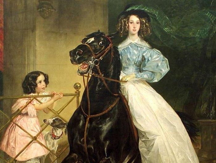 Загадочный портрет: кем на самом деле была «Всадница» Карла Брюллова
