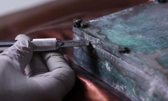 100 летняя капсула времени из статуи: распечатка послания из прошлого