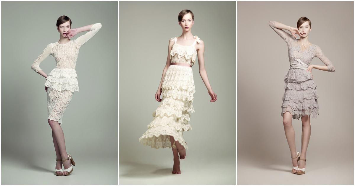 Роскошные вязаные платья для истинных леди