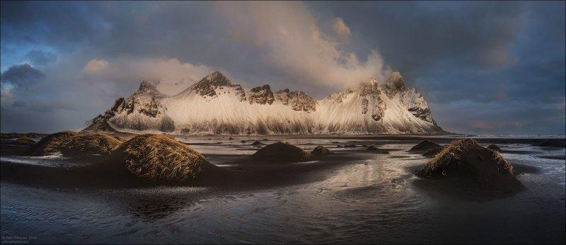 Лежала крупа недолго, зато после выглянуло солнце. И всё это было за час времени. исландия, красота, пейзаж, природа, путешествия, фото, фотограф, фотографии