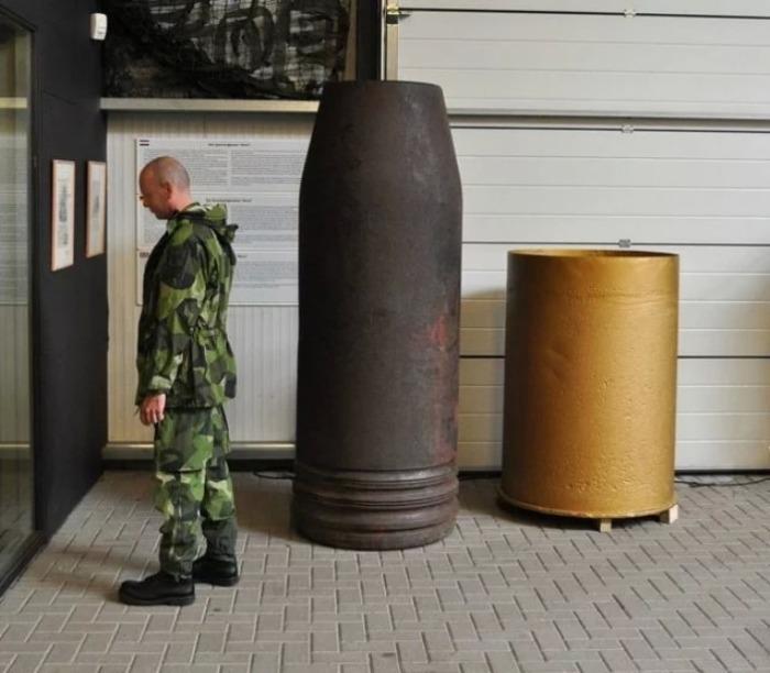 Снаряд немецкой артиллерийской системы «Густав».   Фото: thevintagenews.com.