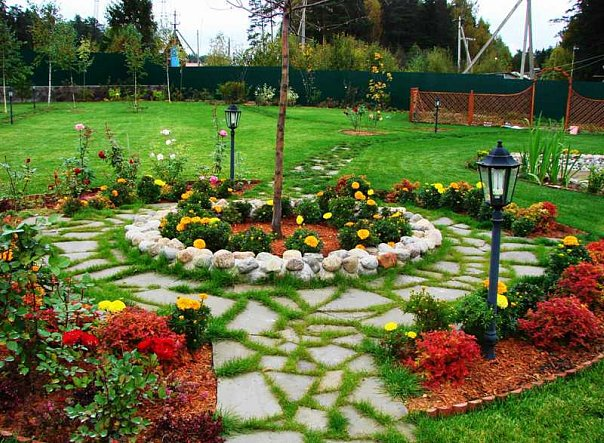 Садовые дорожки с фантазией