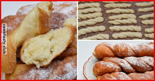 Крученные пончики &8212; необыкновенно вкусно и красиво