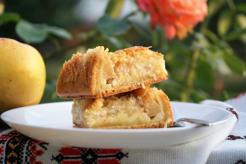 Яблочный пирог с кокосовой карамелью