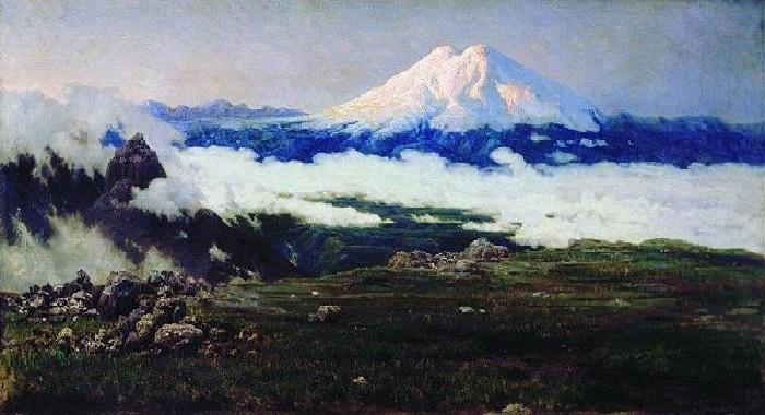 «Шат-гора (Эльбрус)» (1884 год). Автор: Н. Ярошенко.