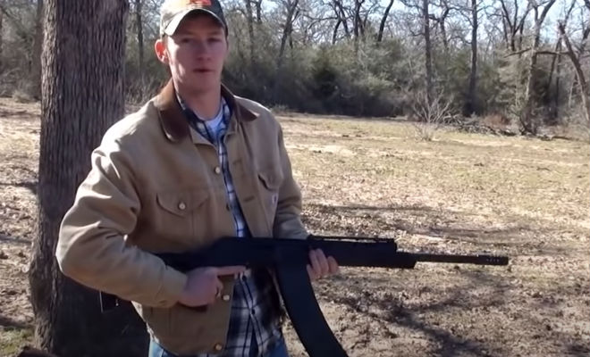Русская Сайга попала в руки стрелка из Техаса: проверил как стреляет очередями с новым магазином