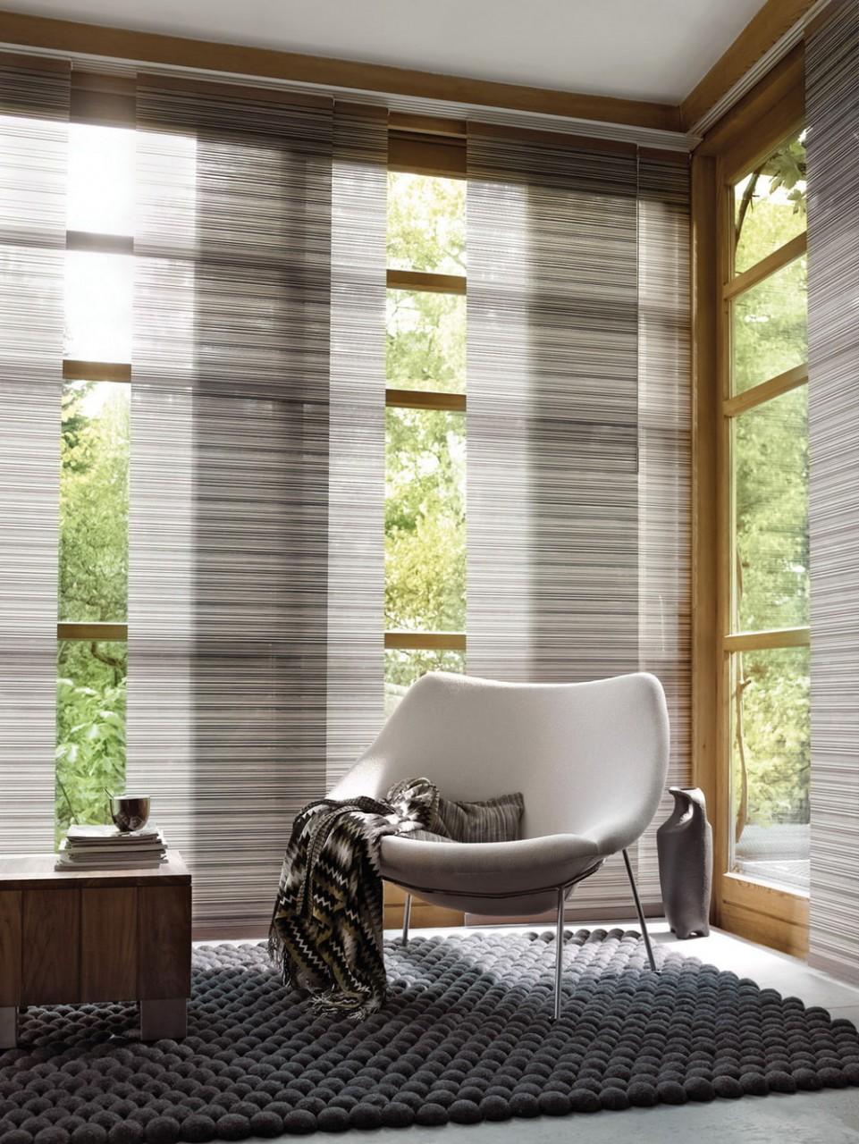 Японские шторы – лучшие идеи оформления интерьера-1