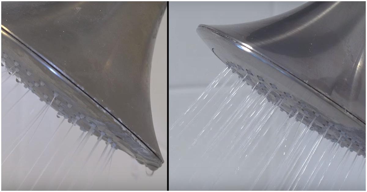 Необычный способ очистки, после которого ваш душ станет работать как новый