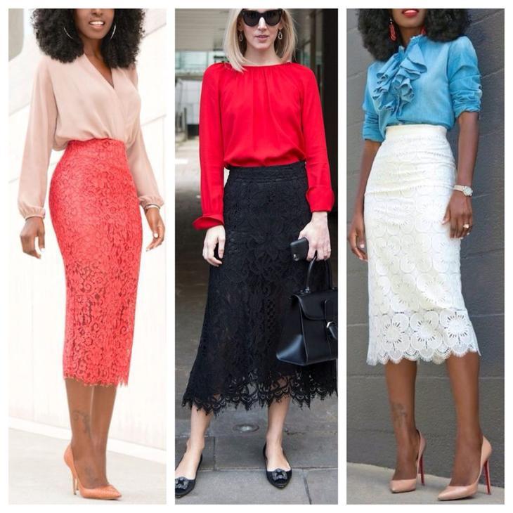 блузки с кружевной юбкой