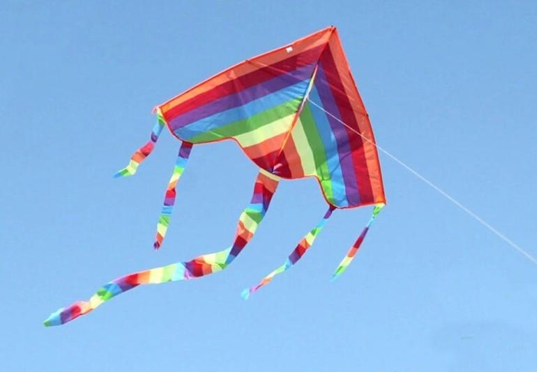 Как сделать воздушного змея из бечевки и бумаги за 20 минут воздушный змей,своими руками