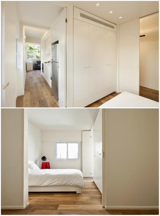 На 40 кв. удалось создать полноценную 4-х комнатную квартиру (Израиль). | Фото: arthitectural.com.